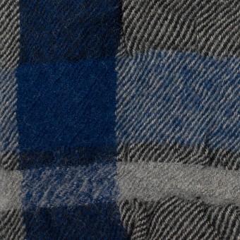 コットン&ウール×チェック(グレー&ネイビー)×ビエラ サムネイル1