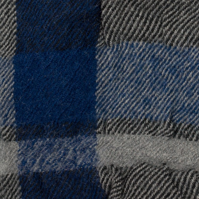 コットン&ウール×チェック(グレー&ネイビー)×ビエラ イメージ1