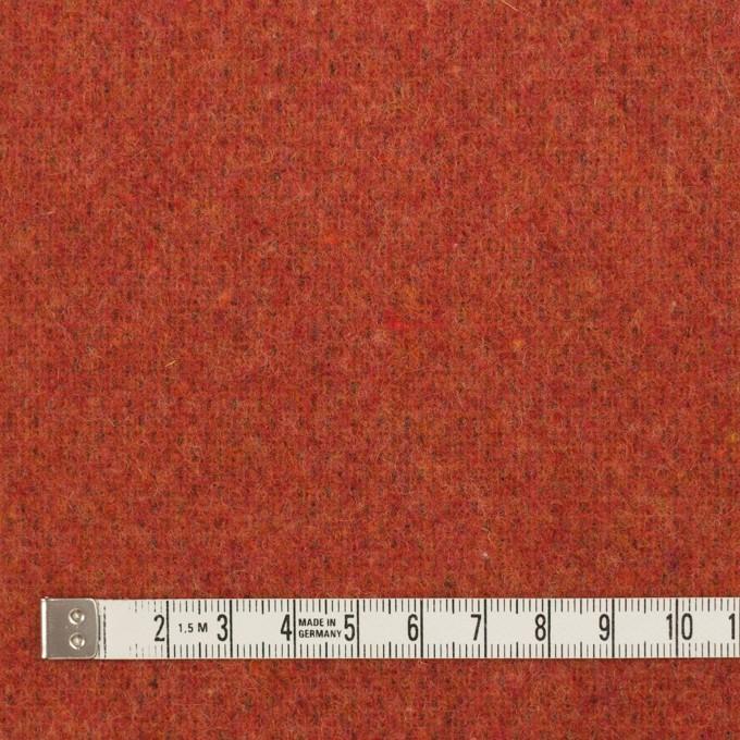 ウール&ポリエステル混×無地(カーキブラウン&トマト)×Wツイード_全4色 イメージ6