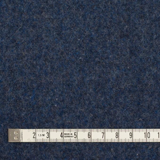 ウール&ポリエステル混×無地(ミッドナイトブルー&グレー)×Wツイード_全4色 イメージ4