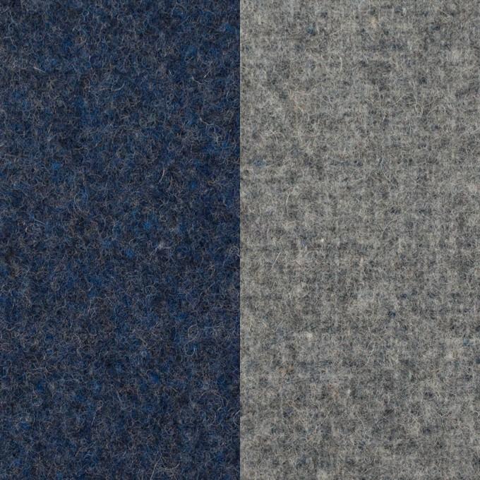 ウール&ポリエステル混×無地(ミッドナイトブルー&グレー)×Wツイード_全4色 イメージ1