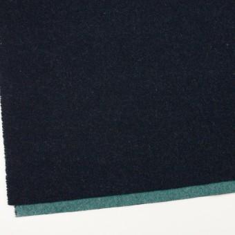 ウール&ポリエステル混×無地(ネイビー&エメラルドグリーン)×Wツイード_全4色 サムネイル2