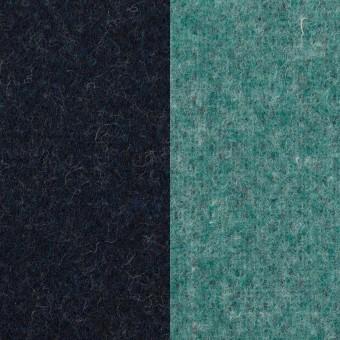 ウール&ポリエステル混×無地(ネイビー&エメラルドグリーン)×Wツイード_全4色 サムネイル1