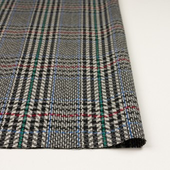 ウール×チェック(グレー&ブラック)×かわり織 サムネイル3