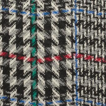 ウール×チェック(グレー&ブラック)×かわり織 サムネイル1