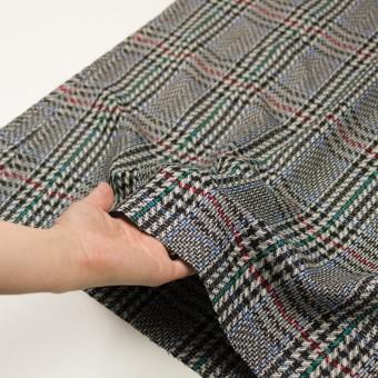 ウール×チェック(グレー&ブラック)×かわり織 サムネイル5