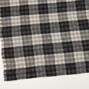ウール×チェック(ブラック)×Wガーゼ サムネイル2