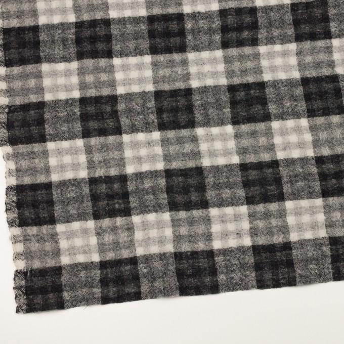 ウール×チェック(ブラック)×Wガーゼ イメージ2