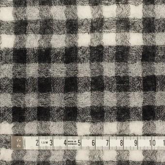 ウール×チェック(ブラック)×Wガーゼ サムネイル6
