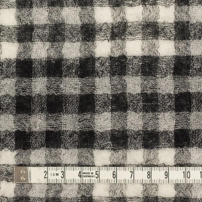ウール×チェック(ブラック)×Wガーゼ イメージ6