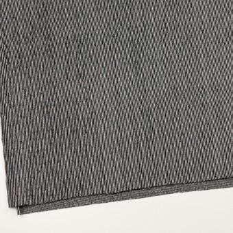 コットン×ストライプ(ブラック)×かわり編み サムネイル2