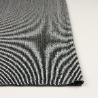 コットン×ストライプ(ブラック)×かわり編み サムネイル3
