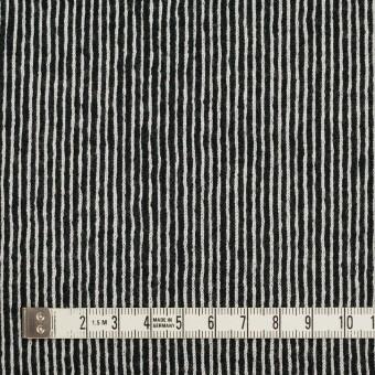 コットン×ストライプ(ブラック)×かわり編み サムネイル4