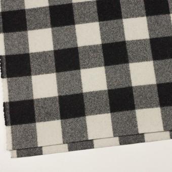 ウール&ナイロン×チェック(ブラック)×ツイード サムネイル2