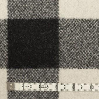 ウール&ナイロン×チェック(ブラック)×ツイード サムネイル4