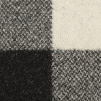 ウール&ナイロン×チェック(ブラック)×ツイード
