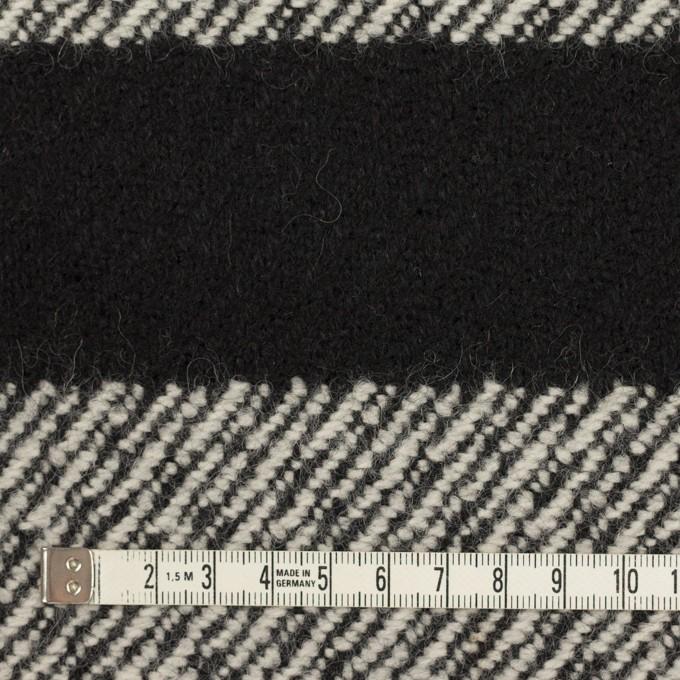 ウール&ナイロン×ボーダー(ブラック)×カルゼ_イタリア製 イメージ4