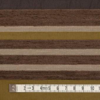 アクリル&ポリエステル混×ボーダー(アンティークゴールド)×ジャガード_全2色_イタリア製_パネル サムネイル4