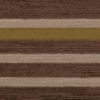 アクリル&ポリエステル混×ボーダー(アンティークゴールド)×ジャガード_全2色_イタリア製_パネル サムネイル1
