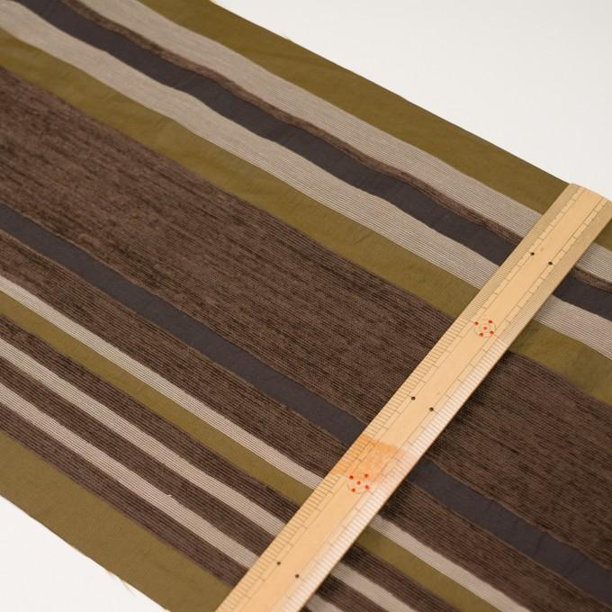 アクリル&ポリエステル混×ボーダー(アンティークゴールド)×ジャガード_全2色_イタリア製_パネル イメージ6