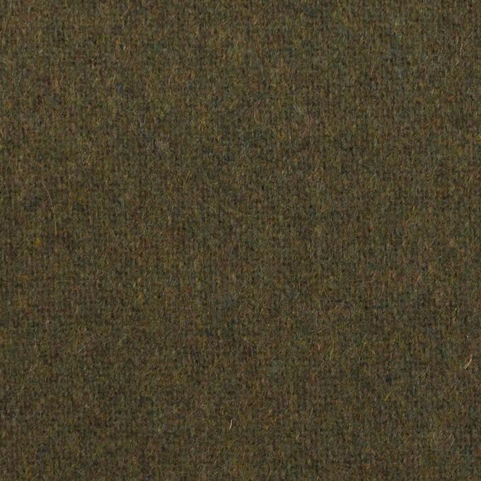 ウール×無地(カーキグリーン)×ツイード イメージ1