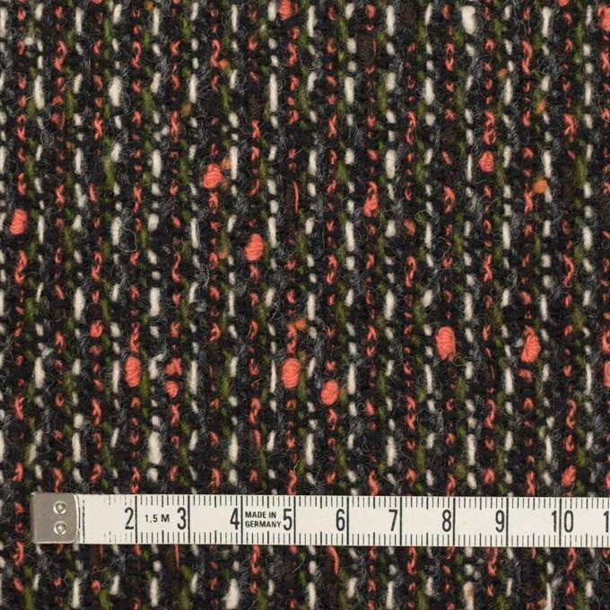 ウール×ミックス(スカーレット、グリーン&ブラック)×ファンシーツイード イメージ4