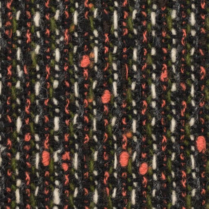 ウール×ミックス(スカーレット、グリーン&ブラック)×ファンシーツイード イメージ1
