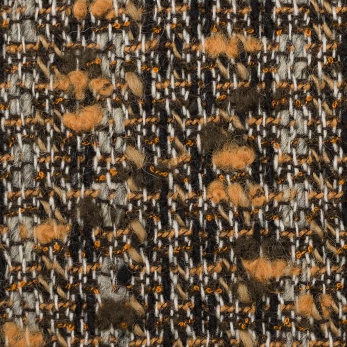ウール&アクリル混×ミックス(オレンジ&ブラウン)×ファンシーツイード イメージ1