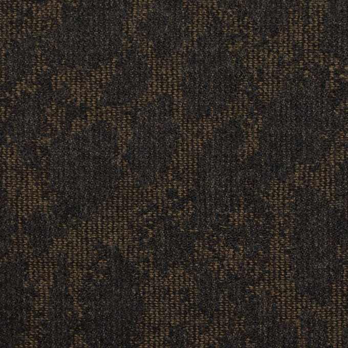 ウール×幾何学模様(カーキベージュ&チャコール)×ジャガード_全2色 イメージ1
