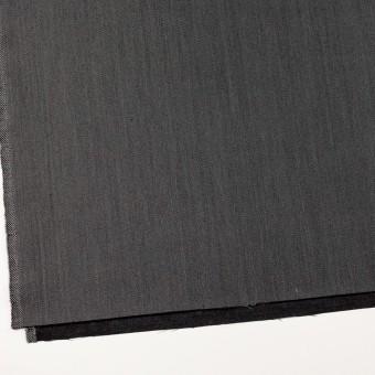 ウール&ポリエステル×無地(チャコールグレー)×二重織サージ サムネイル2