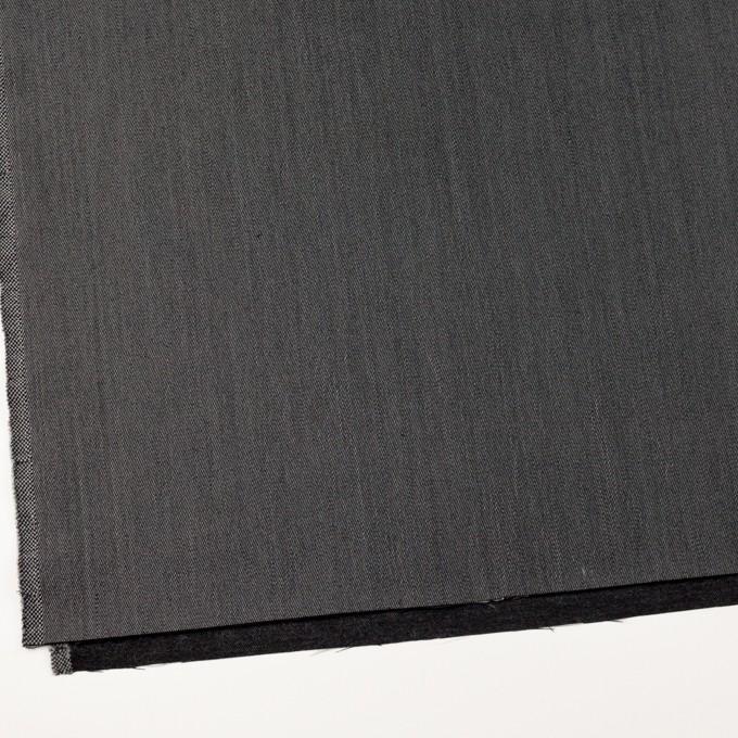 ウール&ポリエステル×無地(チャコールグレー)×二重織サージ イメージ2