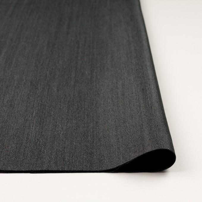 ウール&ポリエステル×無地(チャコールグレー)×二重織サージ イメージ3