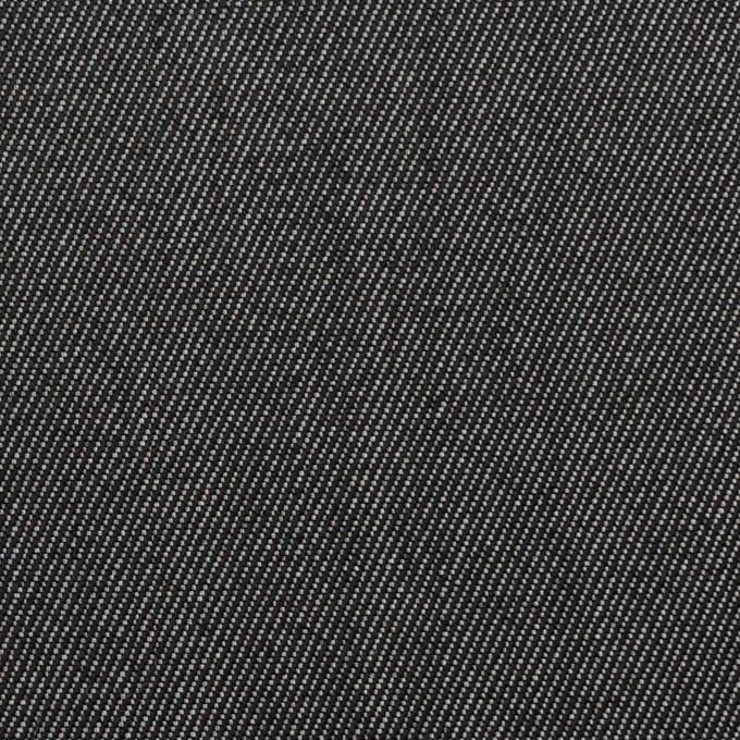 ウール&ポリエステル×無地(チャコールグレー)×二重織サージ イメージ1