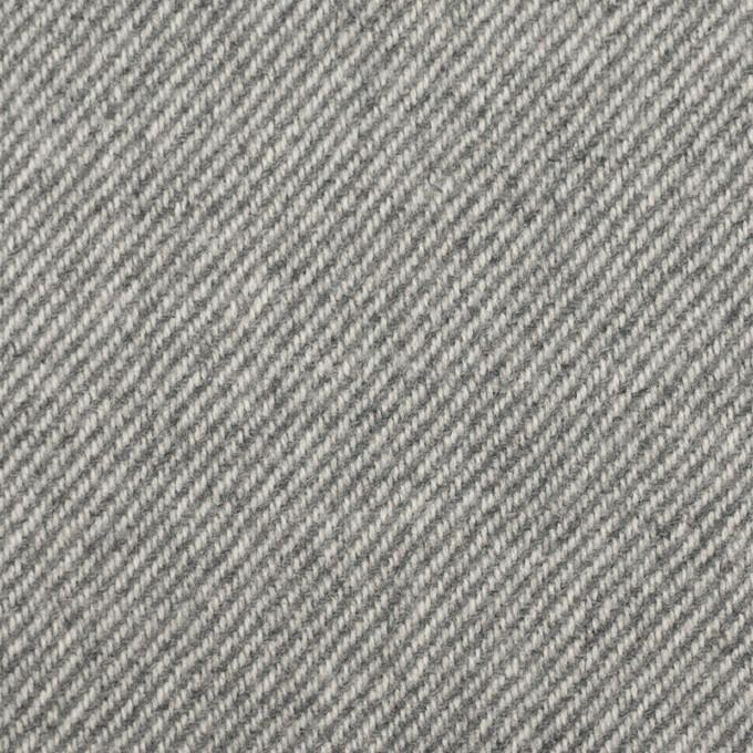 ウール×ミックス(グレー)×サージ イメージ1