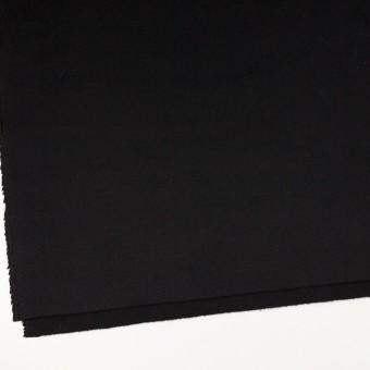 アンゴラ&ウール×無地(ブラック)×フラノ(フランネル) サムネイル2