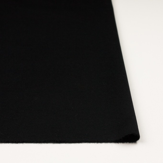 アンゴラ&ウール×無地(ブラック)×フラノ(フランネル) イメージ3