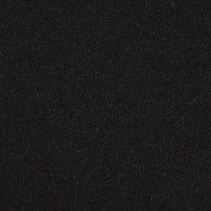 アンゴラ&ウール×無地(ブラック)×フラノ(フランネル) イメージ1