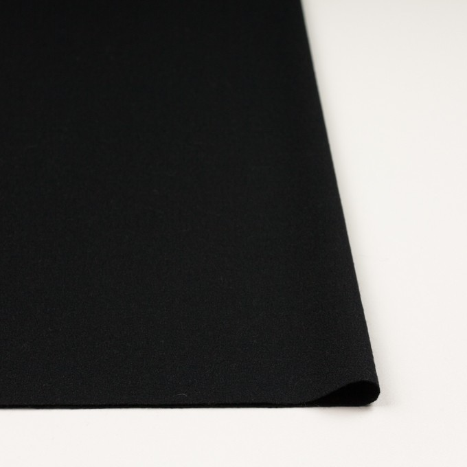 ウール×無地(ブラック)×かわり編み イメージ3
