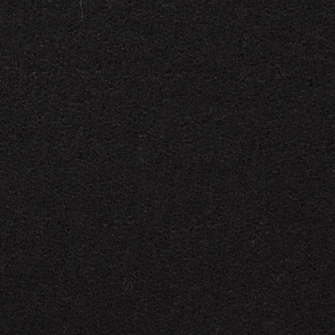 ウール×無地(ブラック)×かわり編み イメージ1