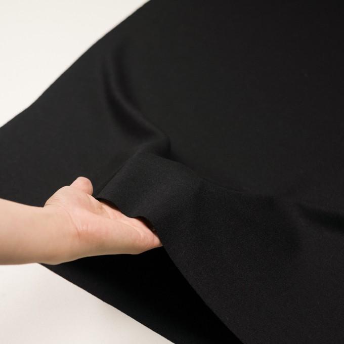 ウール×無地(ブラック)×かわり編み イメージ5