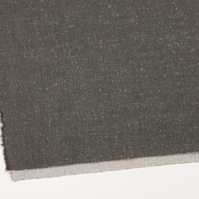 ウール&ナイロン×無地(スレートグレー)×二重織_イタリア製 イメージ2
