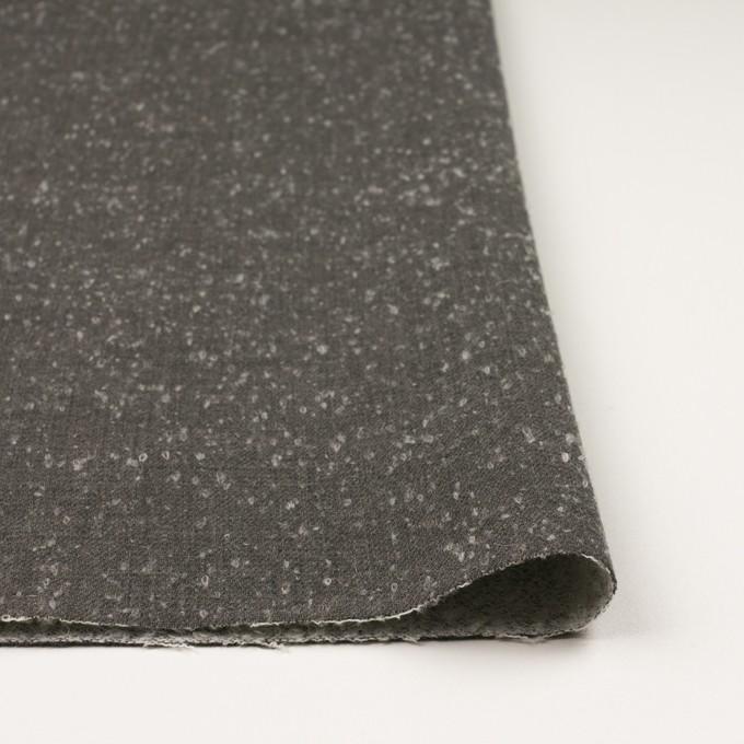 ウール&ナイロン×無地(スレートグレー)×二重織_イタリア製 イメージ3