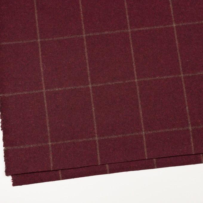 ウール×チェック(ガーネット)×フラノ(フランネル) イメージ2