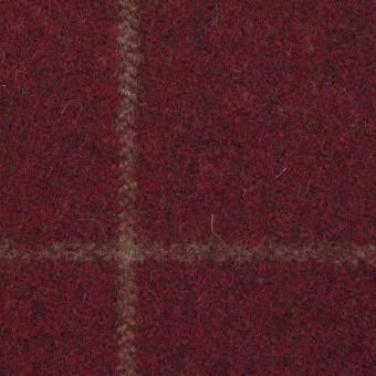 ウール×チェック(ガーネット)×フラノ(フランネル) サムネイル1