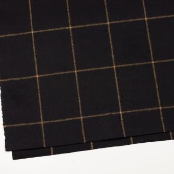 ウール×チェック(ブラック)×フラノ(フランネル) サムネイル2