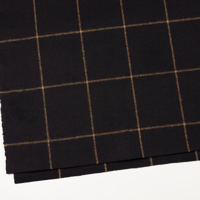 ウール×チェック(ブラック)×フラノ(フランネル) イメージ2