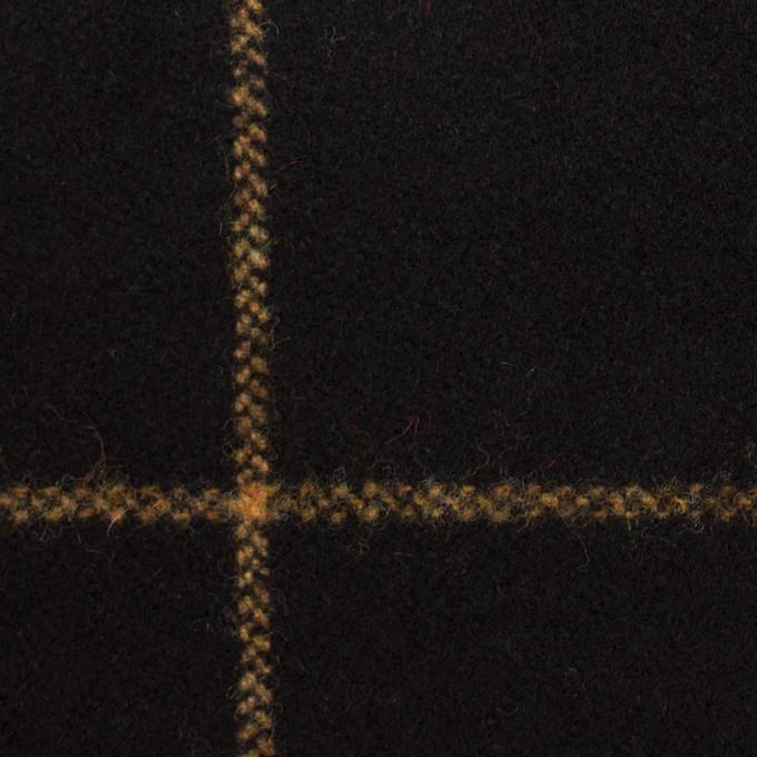 ウール×チェック(ブラック)×フラノ(フランネル) イメージ1