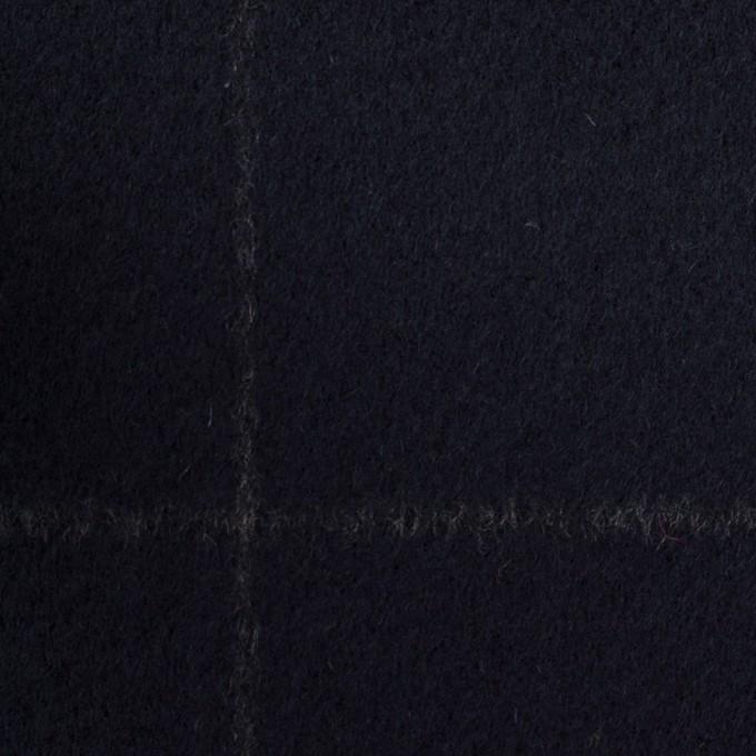 ウール×チェック(ブラック)×ビーバー イメージ1
