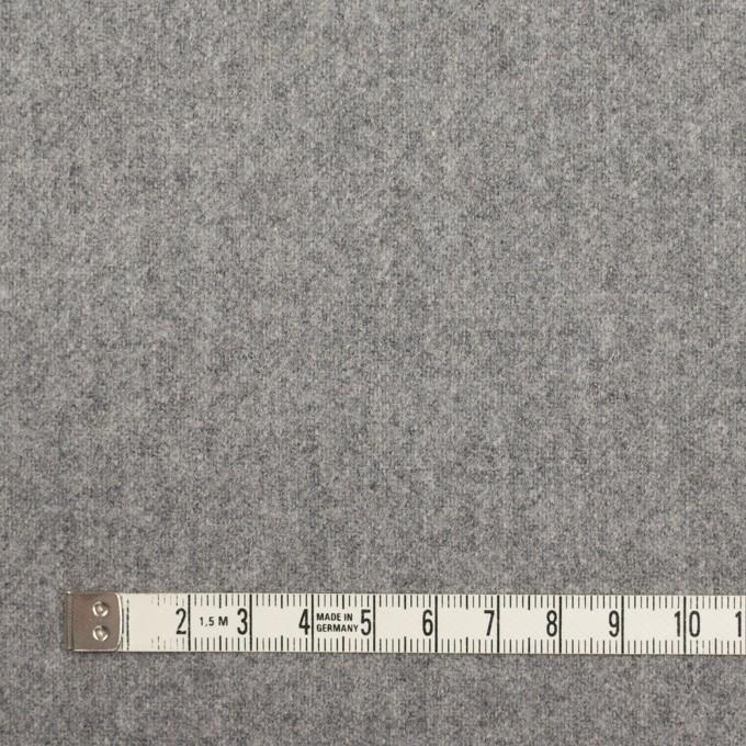ウール&ナイロン×無地(シルバーグレー)×フラノ(フランネル) イメージ4