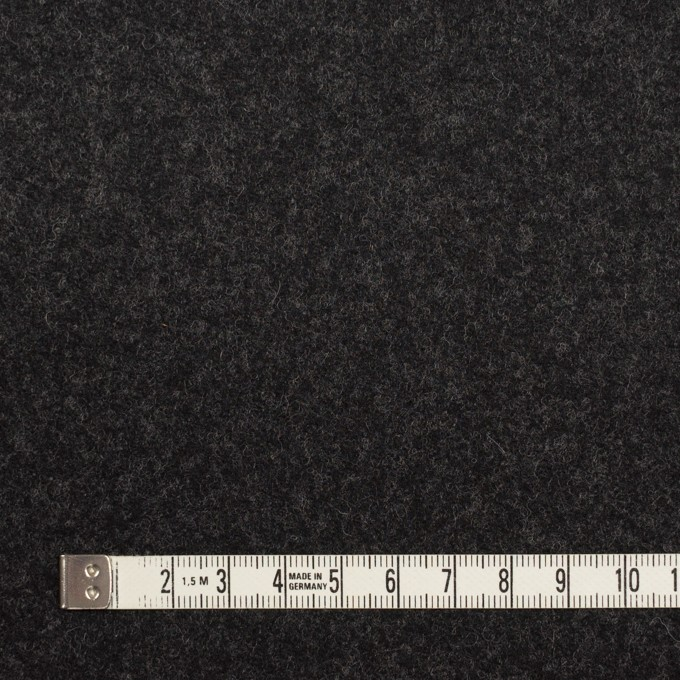 ウール×無地(チャコール)×フラノ(フランネル) イメージ4